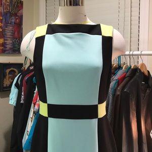 Maggy London scuba colorblock sheath dress